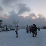 昨年の初日の出。残念ながら雲の中でした