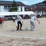 町民によるざる引き競争